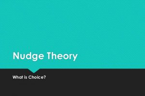 nudge theory